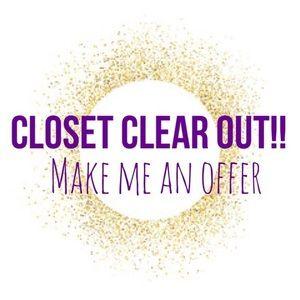 Closet Clear Out Sale